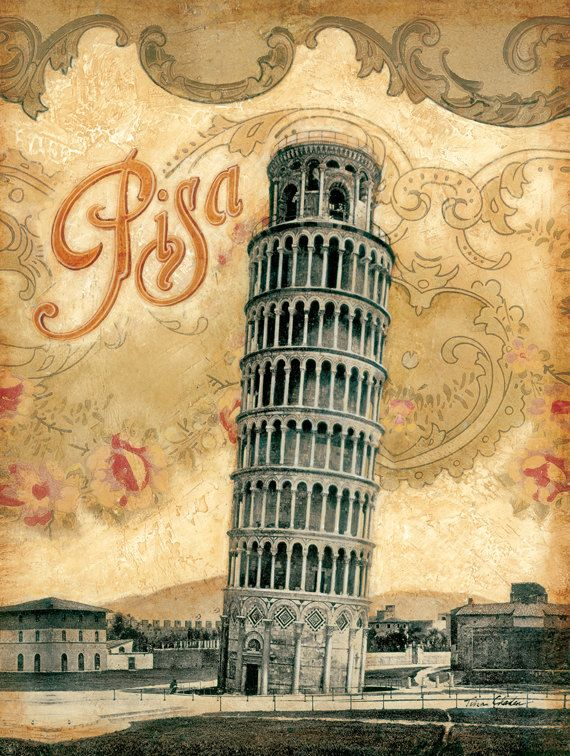 """Italy, Leaning Tower of Pisa 12""""x 16"""". $12.99, via Etsy."""