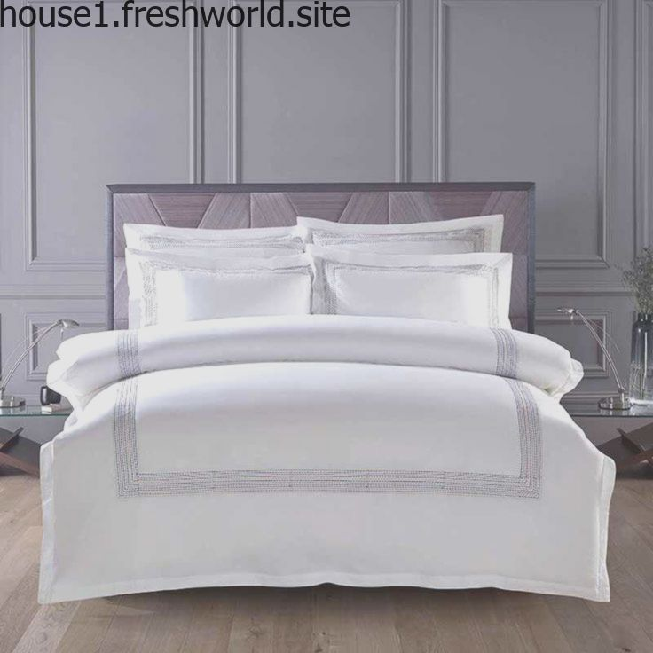 60s Egypt Cotton Embroidery White Color King Queen Size Bedding Sets Hotel Luxur White Comforter Set Queen Bed Comforter Sets Bedding Sets