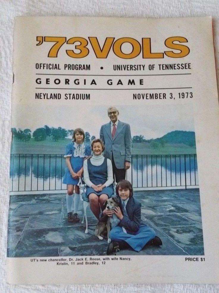 1973 VTG Tennessee vs Georgia Game Program (11.3.73) Homecoming #TennesseeVolunteers