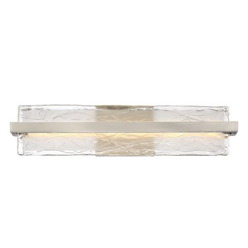 Quoizel Platinum Collection Glacial Brushed Nickel LED Bathroom Light | PCGL8522BN | Destination Lighting