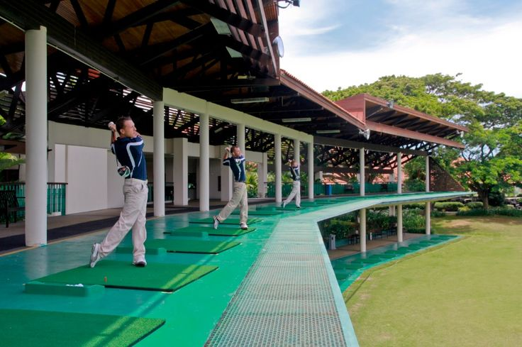 Practice won't be boring especially at a 41-bay two tiered covered driving range overlooking a beautiful lake at Sutera Harbour Golf & Country Club.