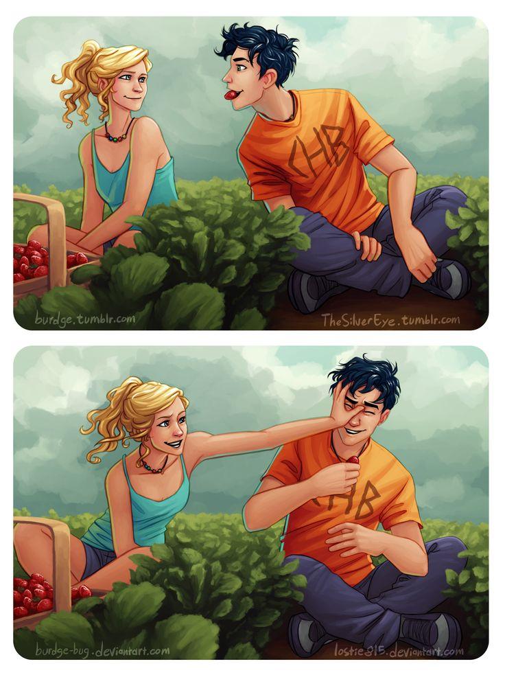 Percabeth Strawberries by Burdge-Bug by lostie815.deviantart.com on @deviantART