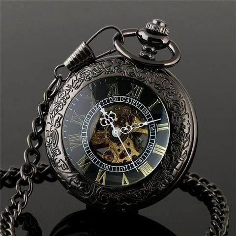 "The ""Black Pearl"" Pocket Watch"