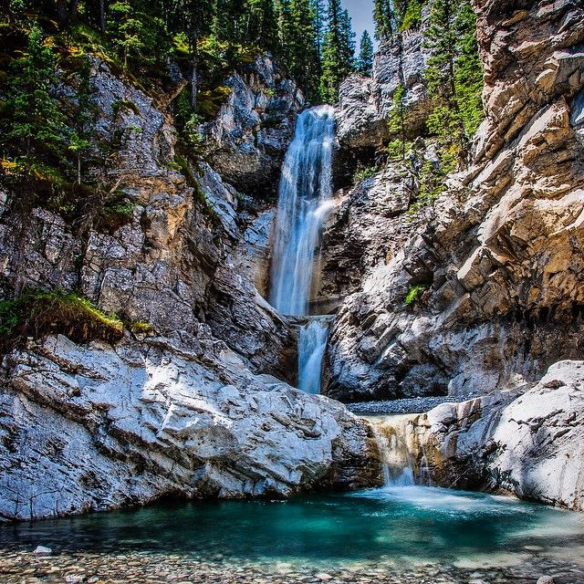 This rare, triple #waterfall in the #KananaskisRange is definitely a must see!