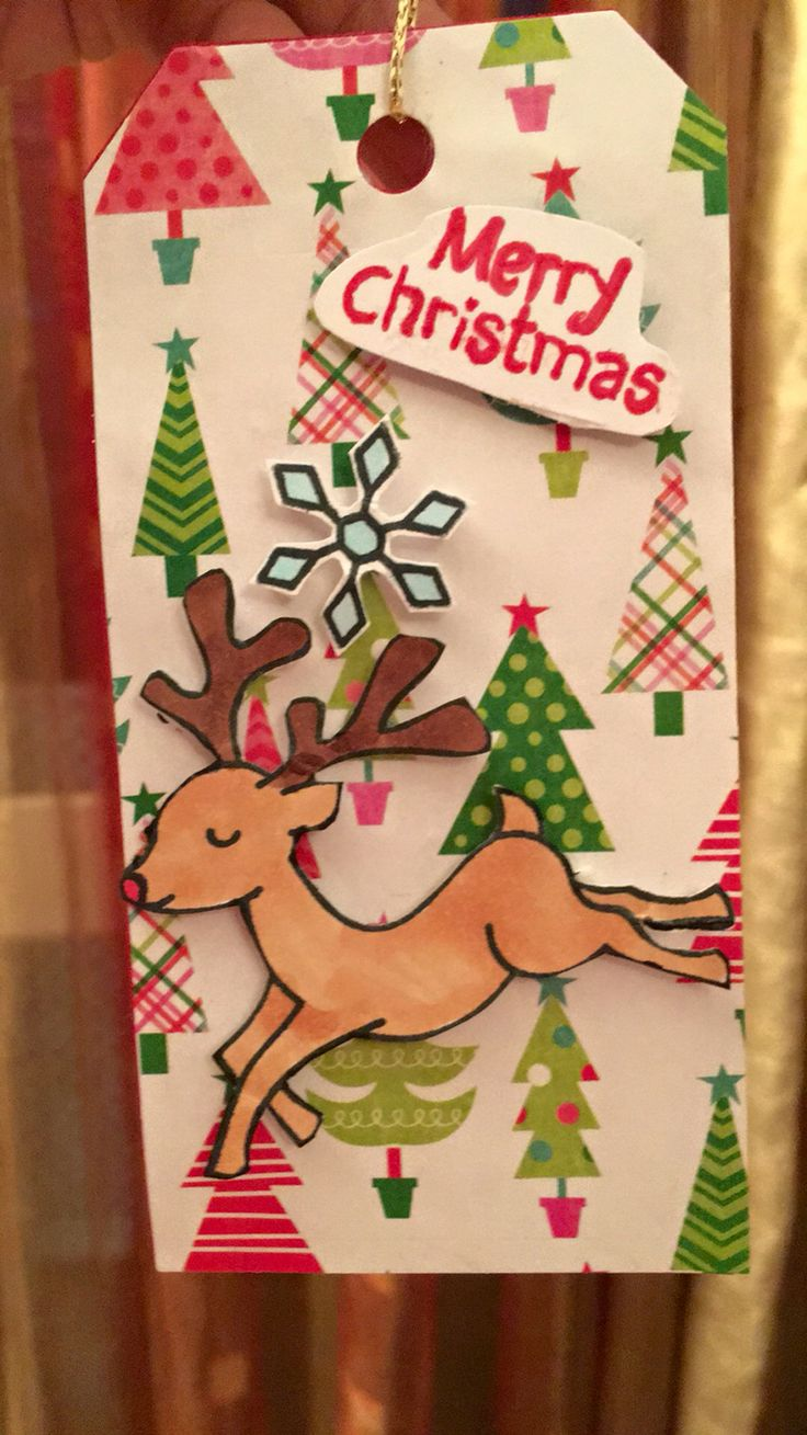 Gift tag made by my son