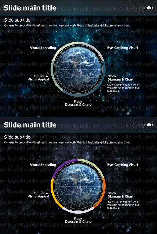 Get hooked in our world with this cool Planet-Earth-themed Powerpoint Template. Compatible with MS 2007 and up.