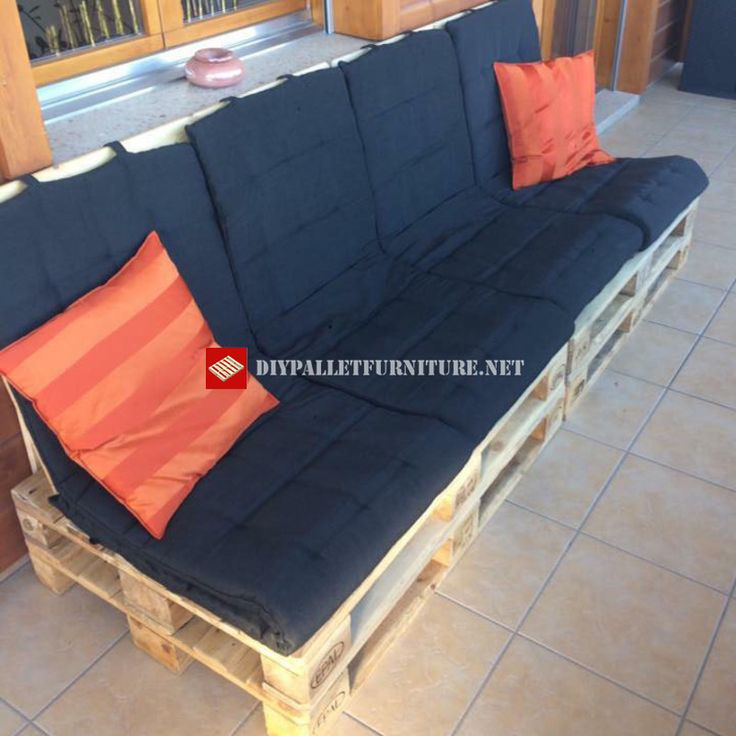 Sofa for the terrace step by step