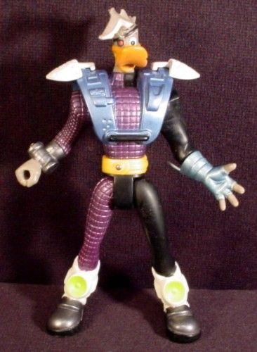 Duke L'Orange Triple Sword Action Figure Mighty Ducks 6.25 Inch 1997 Mattel