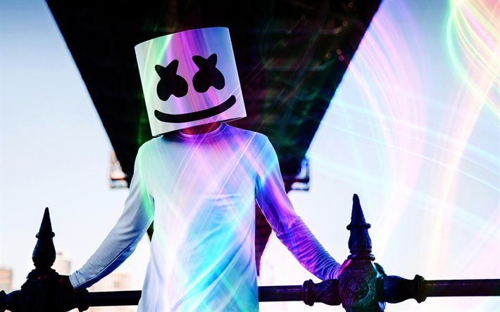 Download wallpapers Marshmello, art, DJ, superstars, progressive house, DJ Marshmello