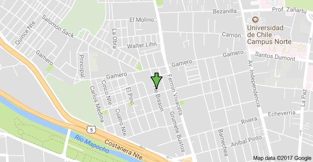 Mapa de Tte Bisson 815, Independencia, Región Metropolitana
