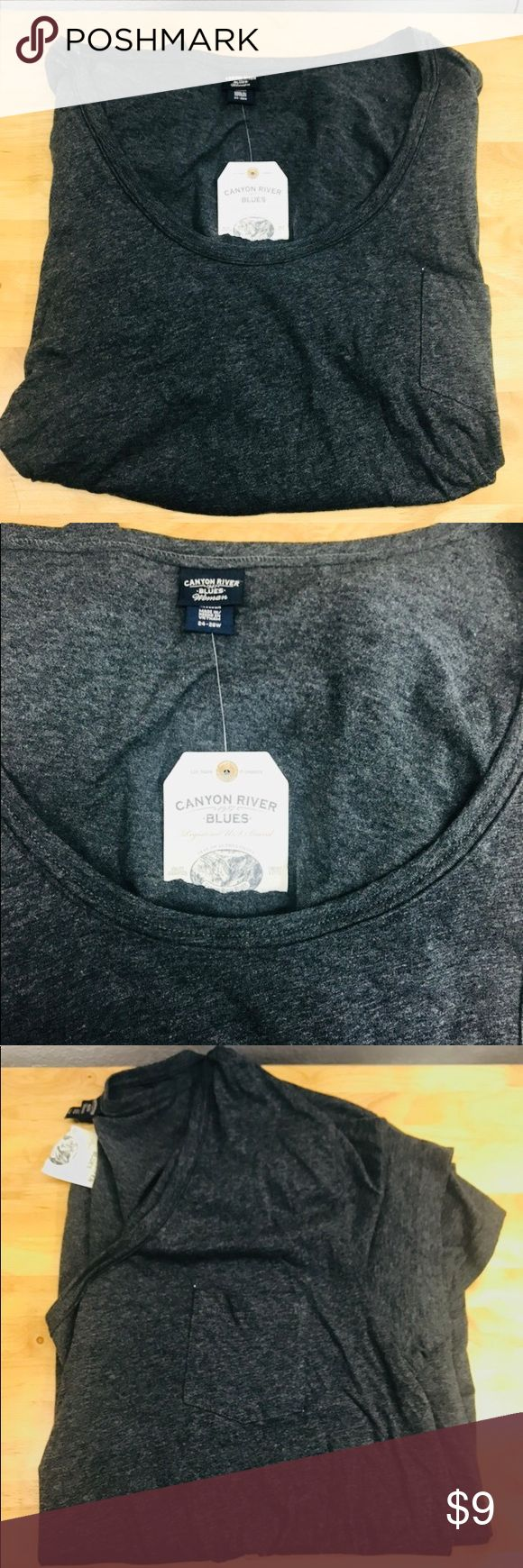 Brand new canyon river blues tee with tags Gray tee shirt with tags and front pocket Canyon river blues Tops