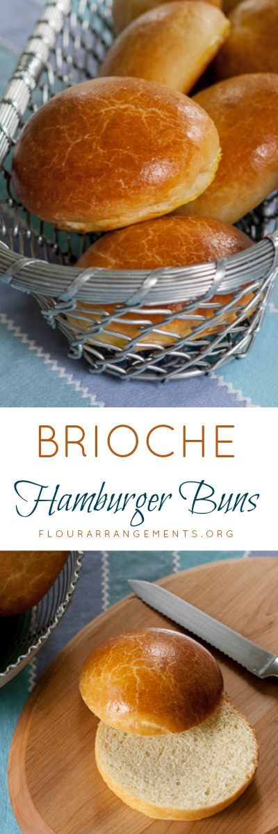 Take your burgers to the next level with brioche hamburger buns. Their flaky, tender texture and rich, buttery flavor make them well worth the effort.