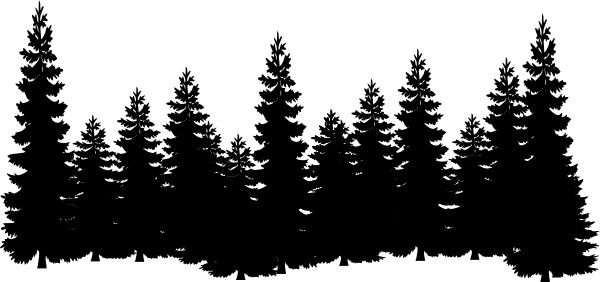forest shilouettes | Forest clip art - vector clip art online, royalty free & public domain