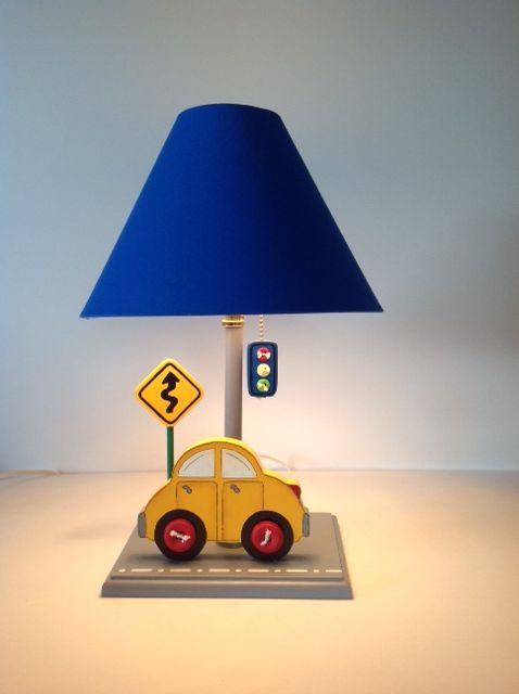 Boy cars lamp. Room accesories. $60. Design: Under Ten. www.undertencr.net.