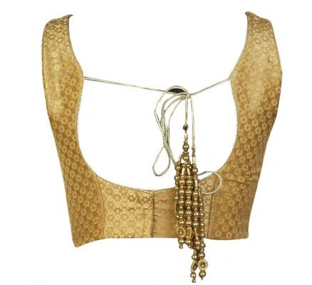 Versatile gold blouse that can be used with multiple sari's