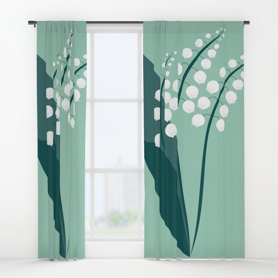 Lily of the valley curtains-  retro inspired