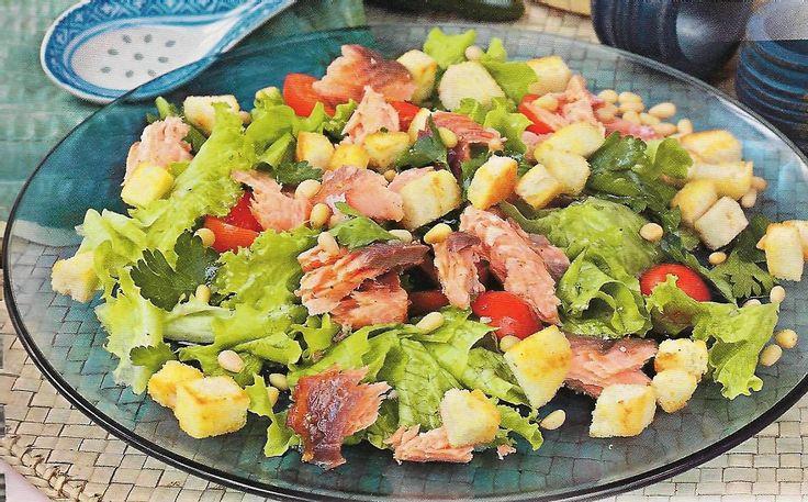 Салат с лососем фото рецепт