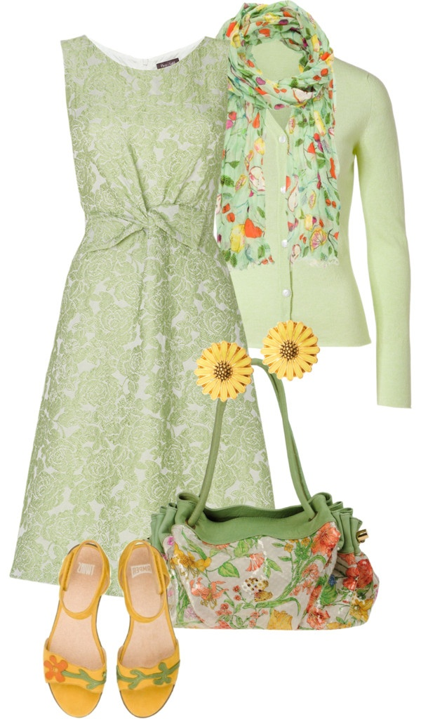 """spring dreams"" by sagramora ❤ liked on Polyvore"