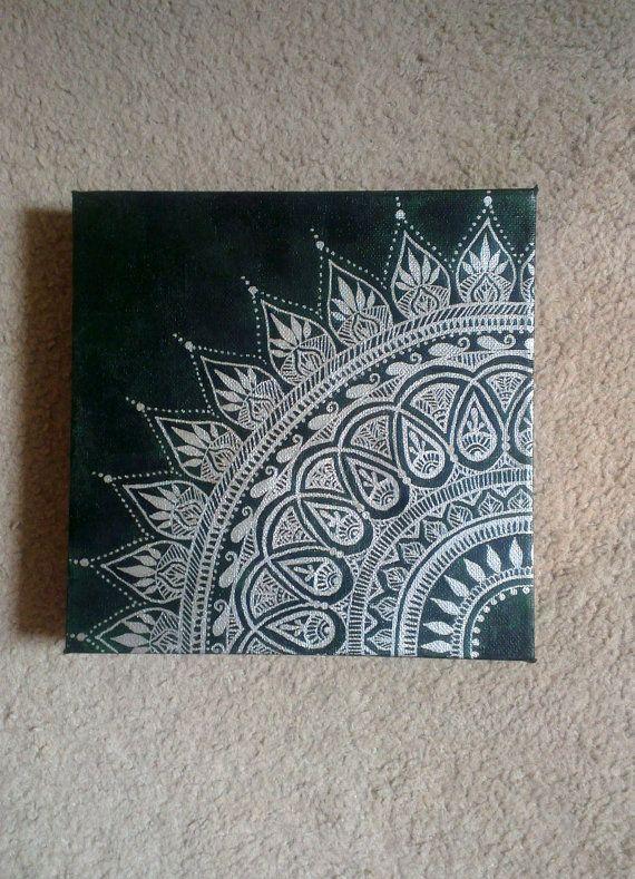 Henna Canvas Art by hennabennaart on Etsy, £19.98