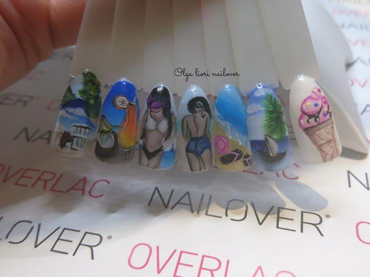 Summer nail art nails