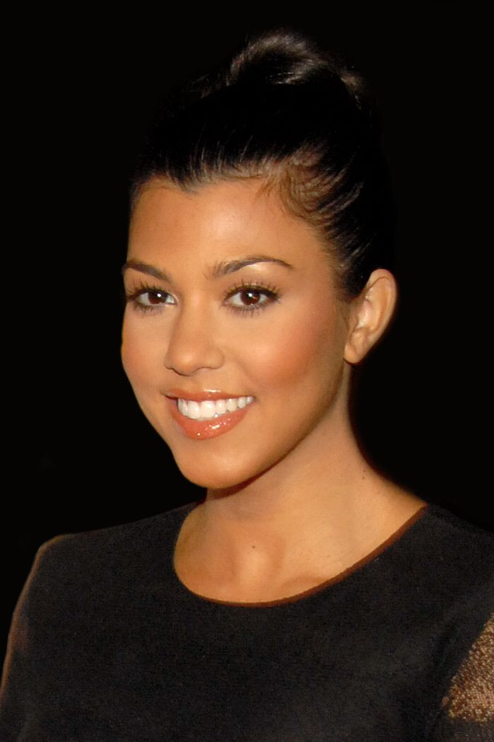Kourtney Mary Kardashian (born April 18, 1979) is an American television personality and model. In 2007, she and her family were commissioned to star in the reality television series Keeping Up with the Kardashians. Its success led to the creation of spin-offs including Kourtney and Khloé Take Miami and Kourtney and Kim Take New York. This photo is from 2009