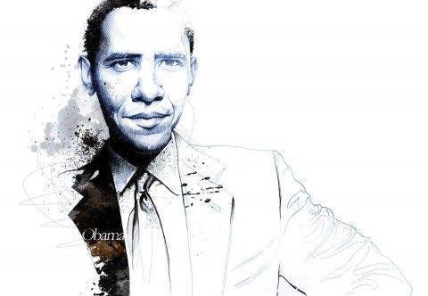 Illustration - David Despau - The Mushroom Company - Barak Obama