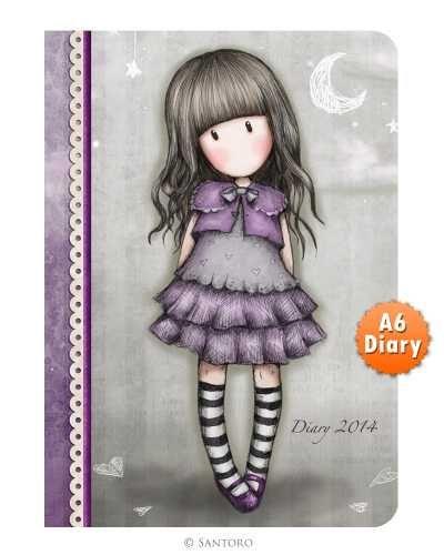 2014 A6 Diary - Gorjuss Little Violet