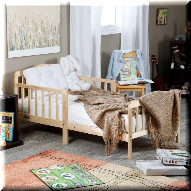 Toddler Bed Wood Frame Natural Kids Children Bedroom Furniture Rails Modern Beds  | eBay