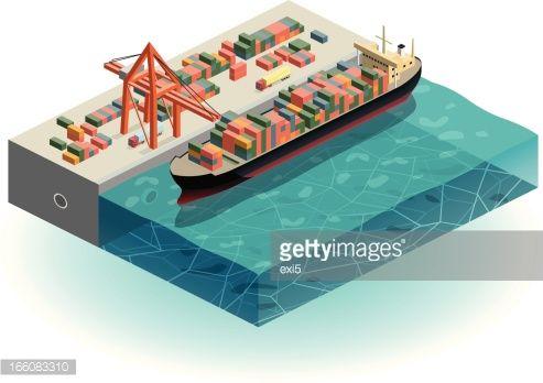 isometric cargo ship - Google zoeken