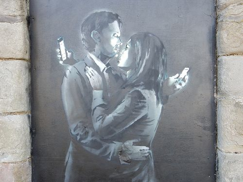 Banksy 'Mobile Phone Lovers' | Flickr - Photo Sharing!