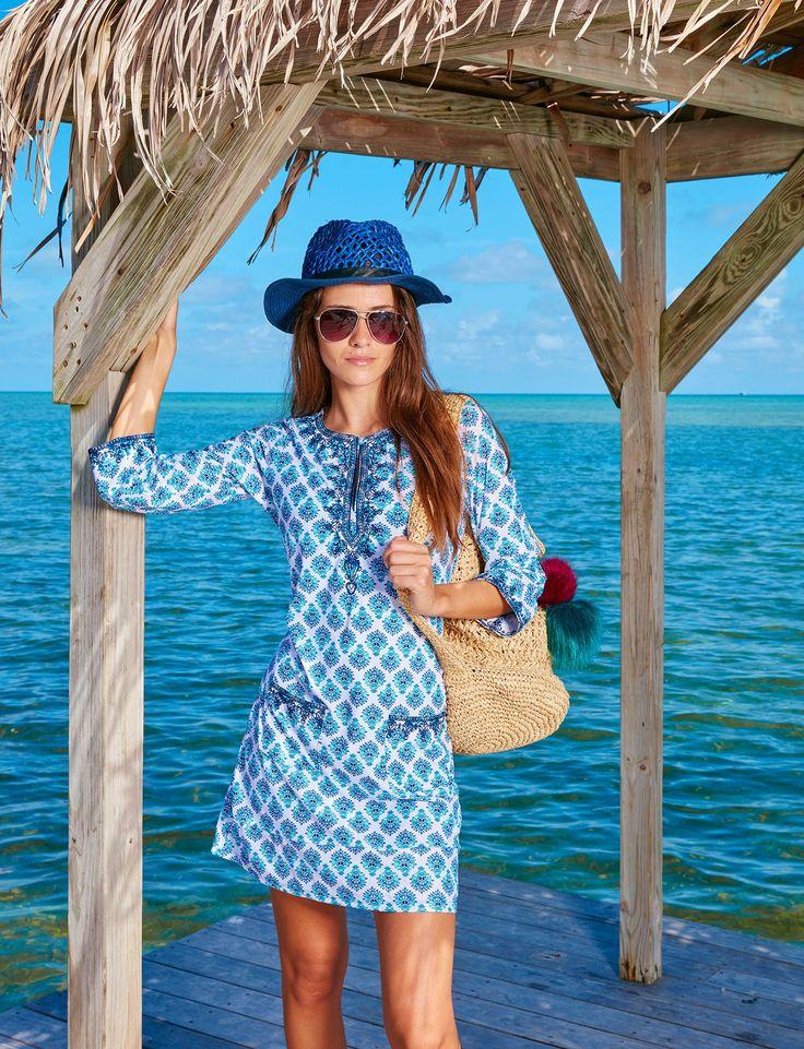 Ladies Beach Dress, Coastal Crush - UPF50+