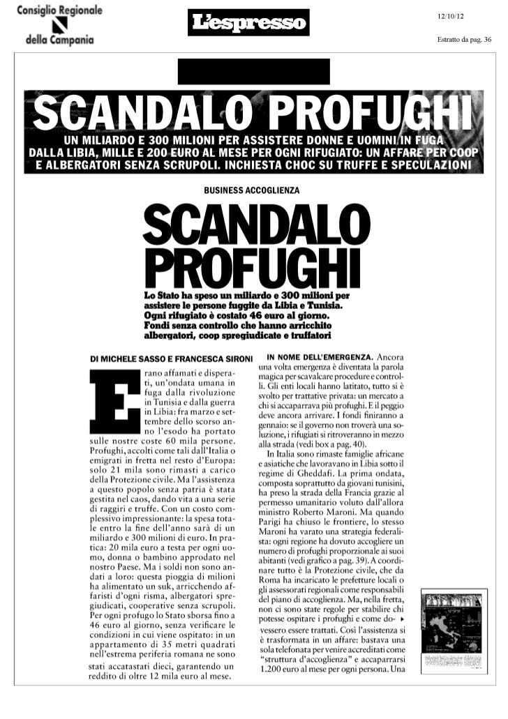 immigrati-lo-scandalo-profughi by Alessio Viscardi via Slideshare