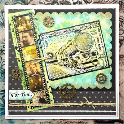 Card by Jean using CI-404 and CI-451 Crafty Individuals rubber Stamps