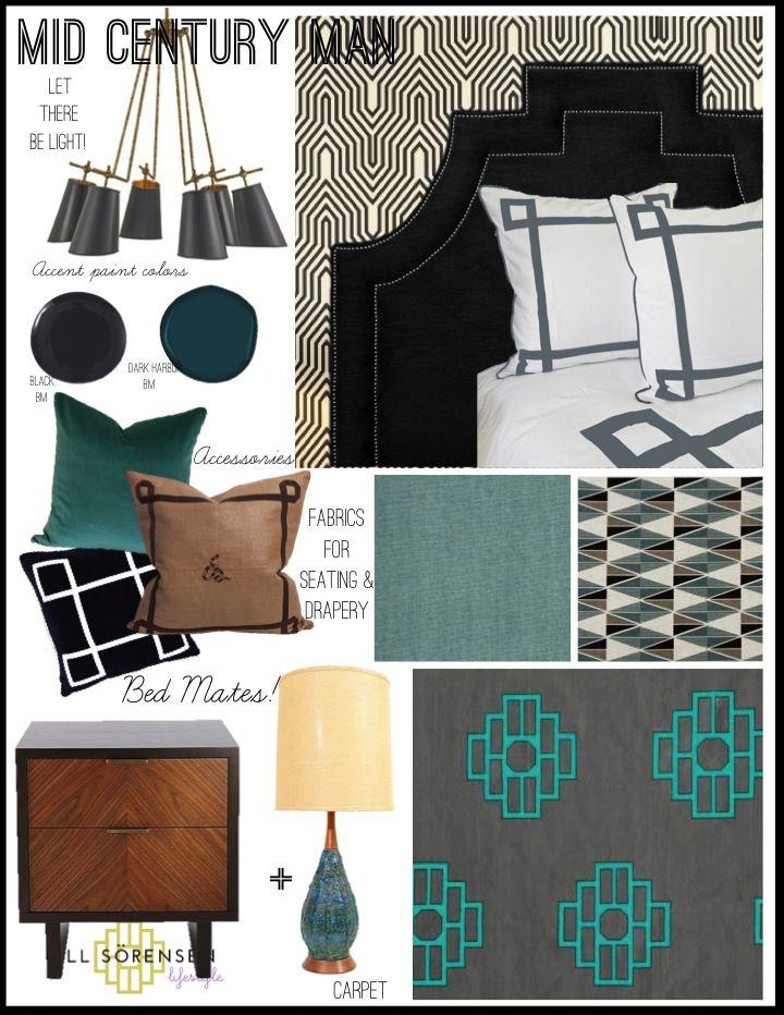 Mid Century Man Bedroom Design Ideas From Jill Sorensen