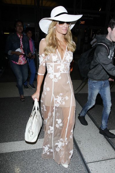 Paris Hilton is seen at LAX.