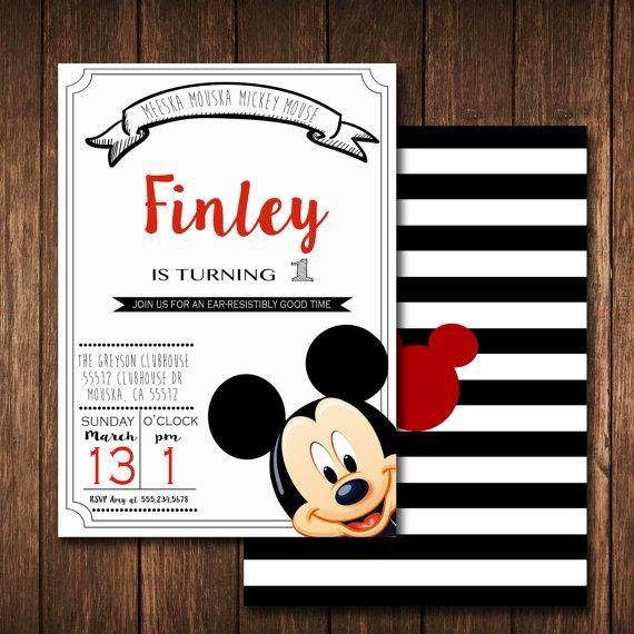 MICKEY MOUSE Invitation,Mickey Birthday,Mickey Mouse Clubhouse,Mickey Party,Chalk invitation, Mickey Birthday Invitations,Mickey Mouse Party