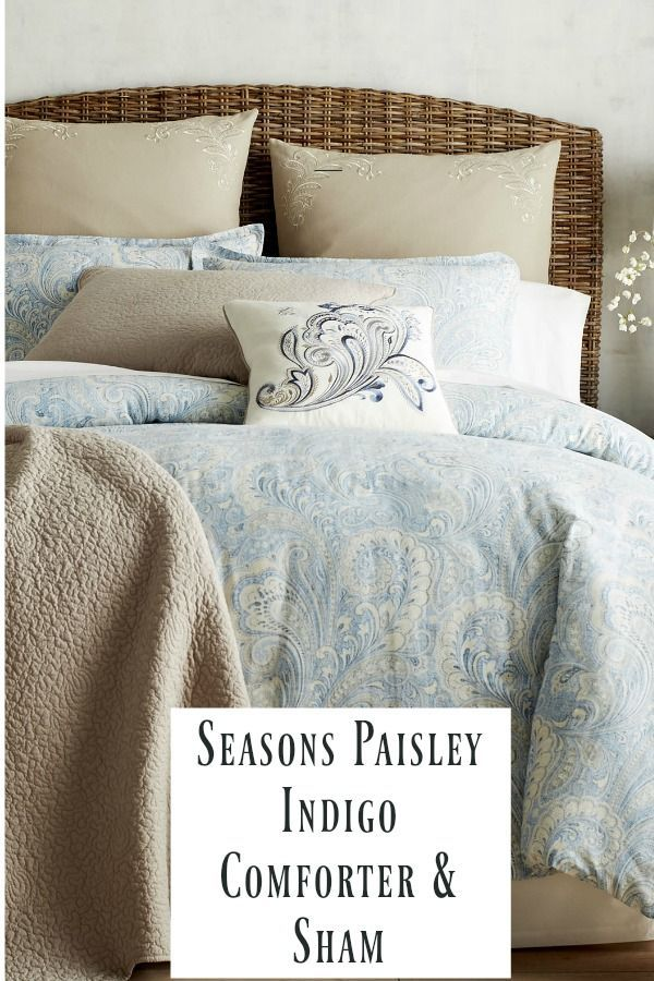 Seasons Paisley Indigo Comforter and Sham Set is so pretty.  I just love the color combination  #bedroom #bedroomdecor #bedroomideas #Home #homedecor #masterbedroom #affiliatelink
