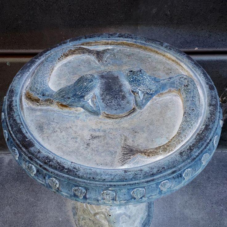 Vintage Concrete Bird Bath