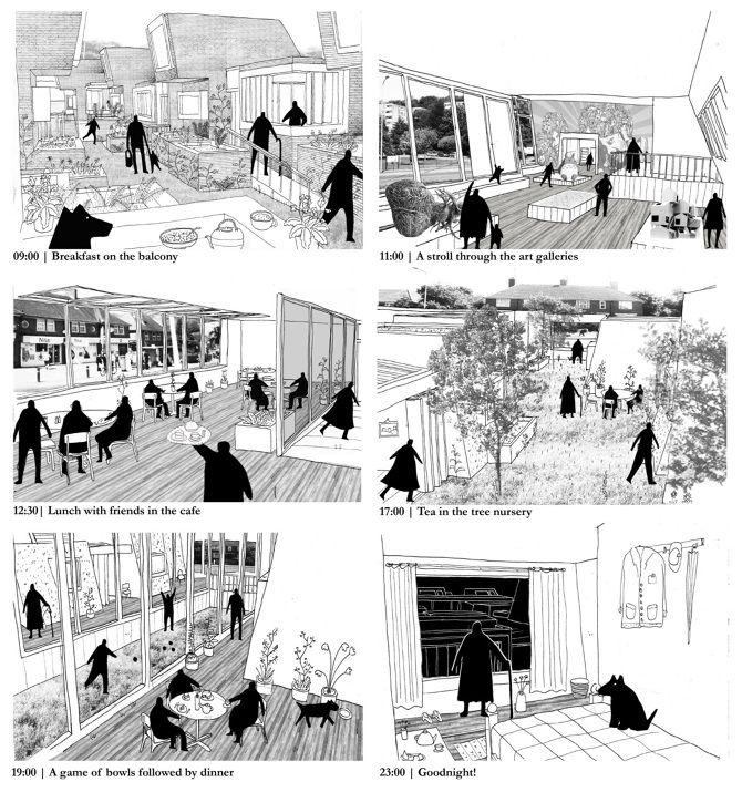 Elderly Housing - Gareth Cotter   Architecture, Design & illustration