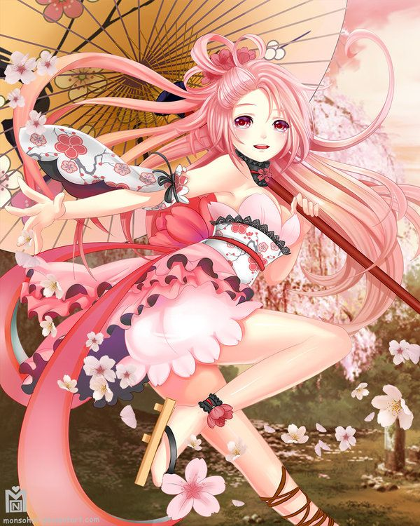 Sakura by Monsohot.deviantart.com on @deviantART #anime #illustration
