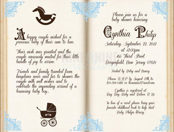 86 best images about story book baby shower on pinterest | themed, Baby shower invitations