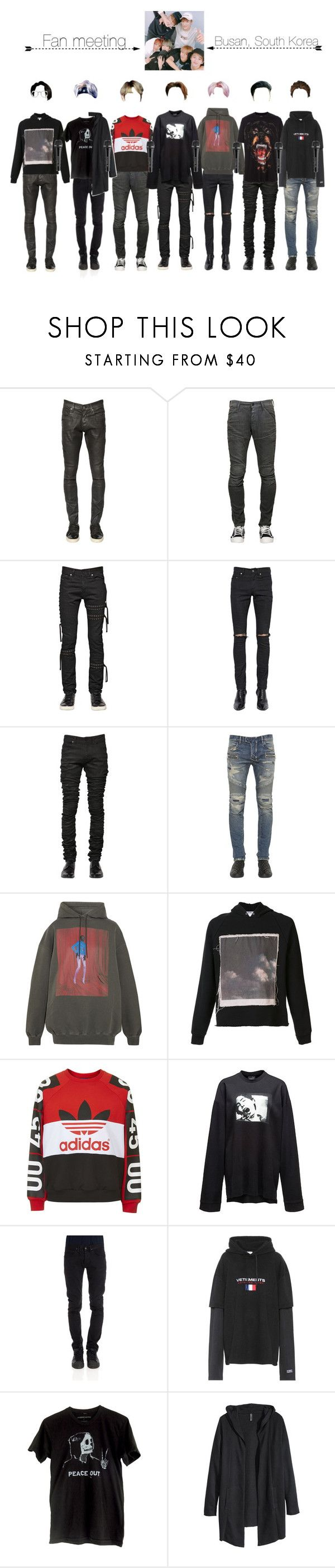 """""""[Fan Meeting]- Busan"""" by lucky7-official ❤ liked on Polyvore featuring G-Star, Diesel Black Gold, Yves Saint Laurent, Balmain, Balenciaga, Enfants Riches Déprimés, Topshop, Givenchy, CYCLE and Vetements"""