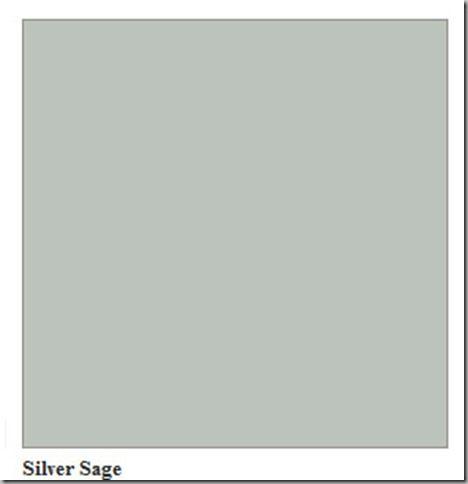 Incredible Silver Sage Benjamin Moore