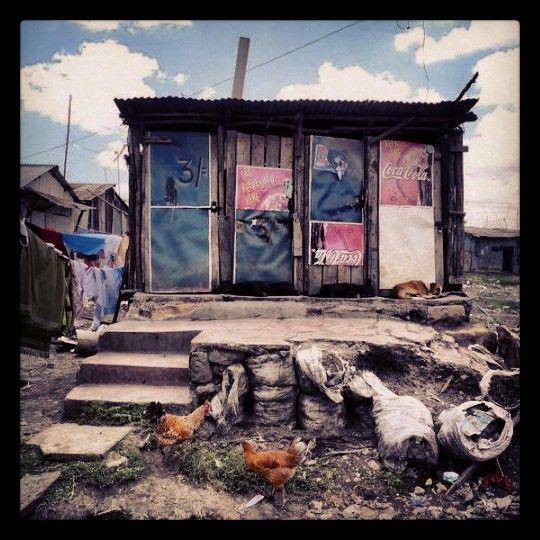 Toilets in a Nairobi Slum. Kenya