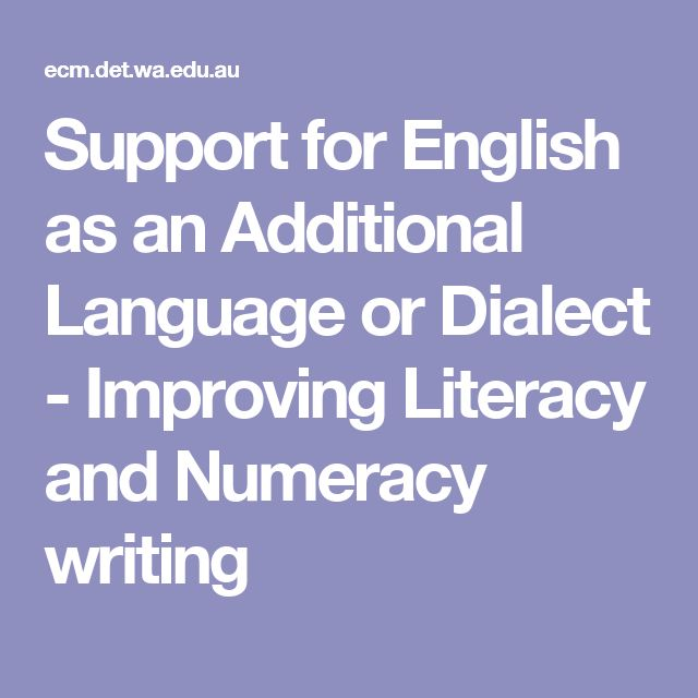 support literacy and numeracy activities To succeed in a complex and changing world, students need strong literacy and numeracy skills as well as being able to read, write and solve mathematical problems, they need to use language.
