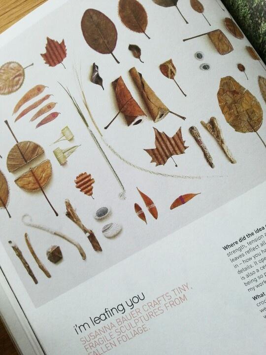 Susanna bauer leaf sculptures via frankie magazine.