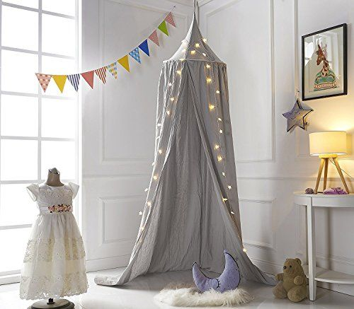 KING DO WAY Betthimmel Baldachin Aus Baumwolle Leinwand Deko,Bett Überdachung  Für Baby Kind Zelte Aus Cotton Canvas,als Mückenschutz Moskitonetz ...