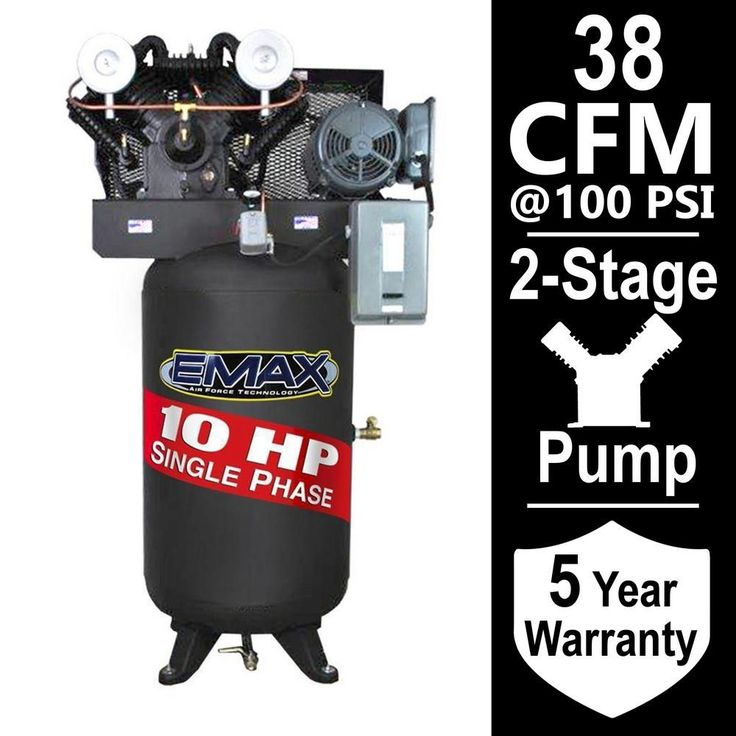 Industrial Series 80 Gal. 10 HP 1-Phase Electric Air Compressor