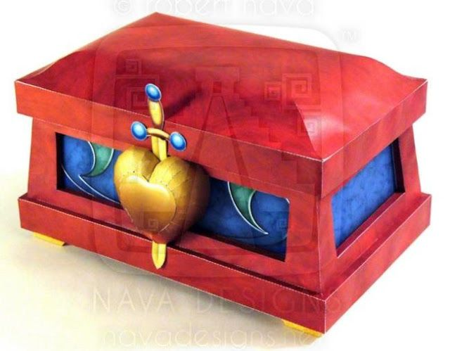 PAPERMAU: The Wicked Queen`s Heart Box Paper Model - by Robert Nava