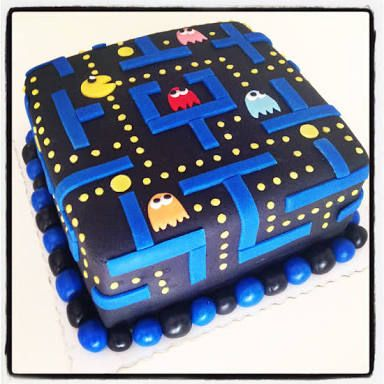 pacman cakes - Google Search                                                                                                                                                                                 More